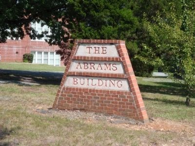 The Abrams Building Sign image. Click for full size.