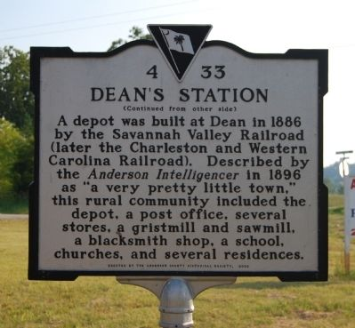 Dean / Dean's Station Marker - Dean's Station Side image. Click for full size.
