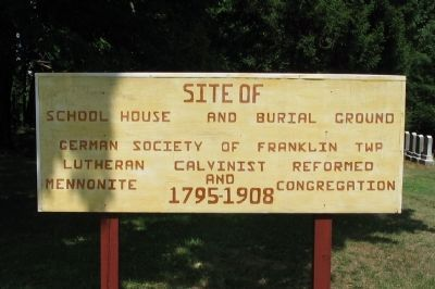 Site of School House and Burial Ground Marker image. Click for full size.