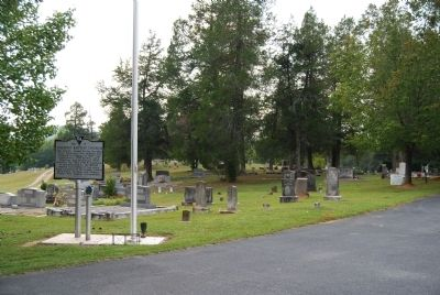 Oolenoy Baptist Church Marker (Front) and Cemetery image. Click for full size.