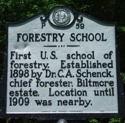 Forestry School Marker image. Click for full size.