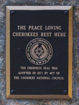 Cherokee Monument Plaque image. Click for full size.
