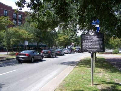 Savannah's African-American Medical Pioneers Marker, looking west on Liberty St image. Click for full size.