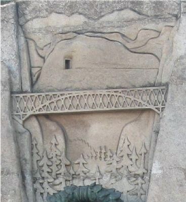 Close-Up of Art Work on Monument image. Click for full size.