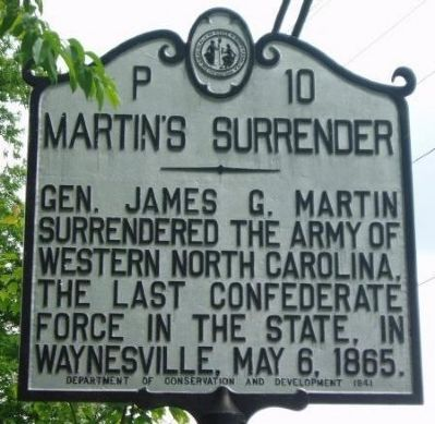 Martin's Surrender Marker image. Click for full size.