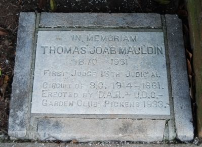 Thomas Joab Mauldin Marker image. Click for full size.