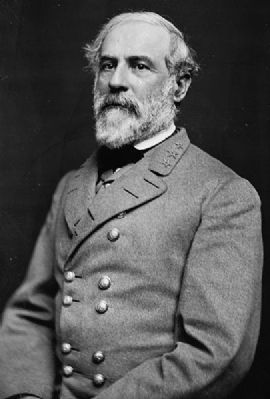 Portrait of Gen. Robert E. Lee, officer of the Confederate Army image. Click for full size.