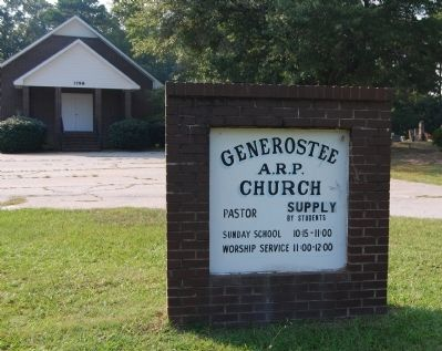 Generostee A.R.P. Church and Sign image. Click for full size.