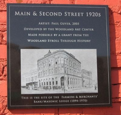 Main & Second Street - 1920's Marker image. Click for full size.