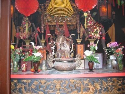 Interior of Bok Kai Temple image. Click for full size.