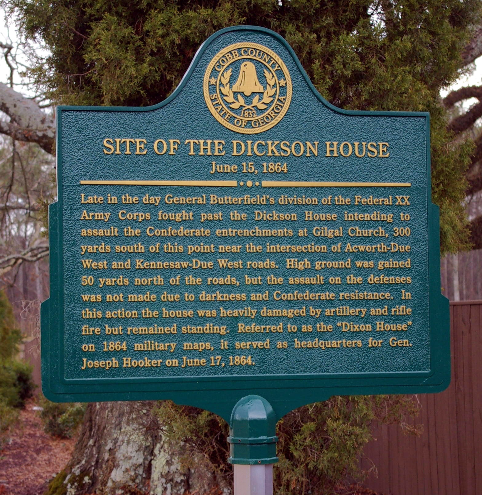 Site of the Dickson House Marker