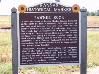 Pawnee Rock Marker image. Click for full size.