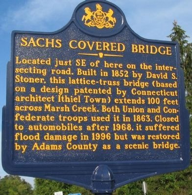 Sachs Covered Bridge Marker image. Click for full size.