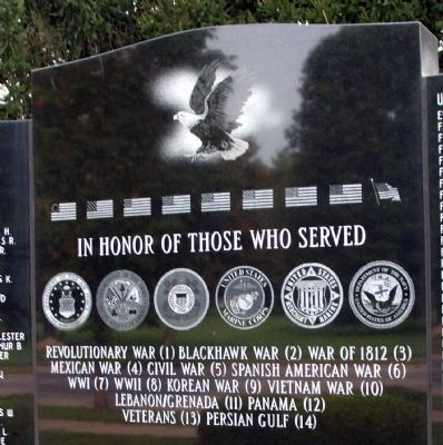 In Honor of Those Who Served Marker image. Click for full size.