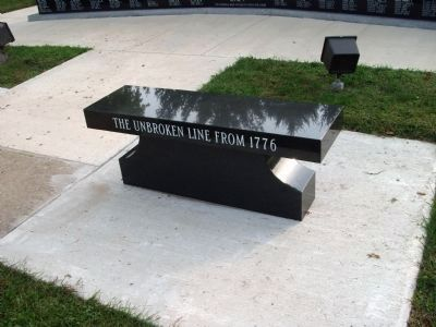 Right Bench - Facing Memorial image. Click for full size.