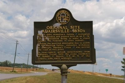 Original Site Adairsville -- 1830's Marker image. Click for full size.