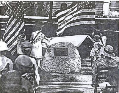 Unveiling of Marker July 4, 1933 image. Click for full size.