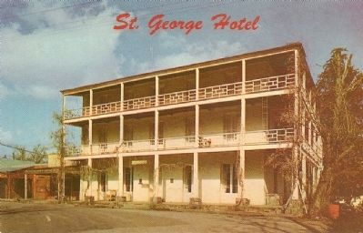 Vintage Postcard - St. George Hotel image. Click for full size.