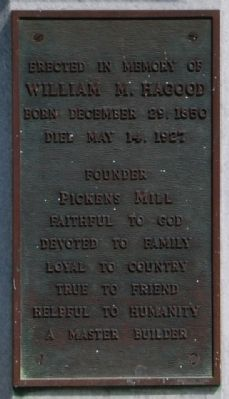 William M. Hagood Marker image. Click for full size.