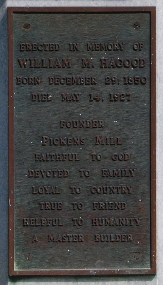 William M. Hagood Marker