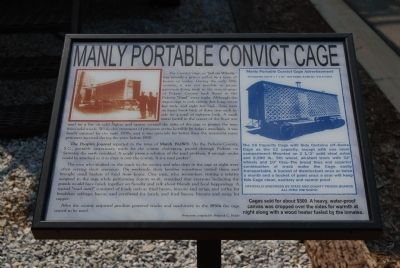 Manly Portable Convict Cage Marker image. Click for full size.