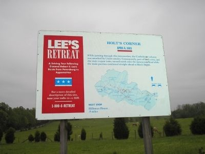 Holt's Corner Marker on Lee's Retreat image. Click for full size.