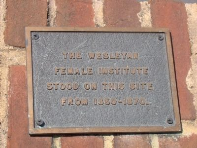 The Wesleyan Female Institute Marker image. Click for full size.