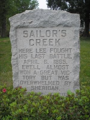 Sailor's Creek Marker image. Click for full size.