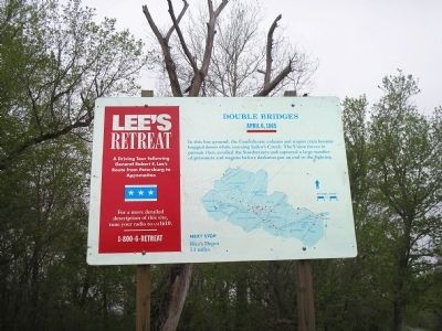 Double Bridges Marker on Lee's Retreat image. Click for full size.
