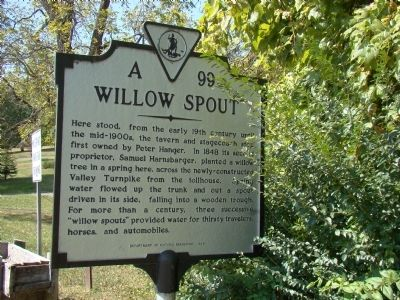 Willow Spout Marker image. Click for full size.