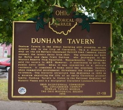Dunham Tavern Marker image. Click for full size.
