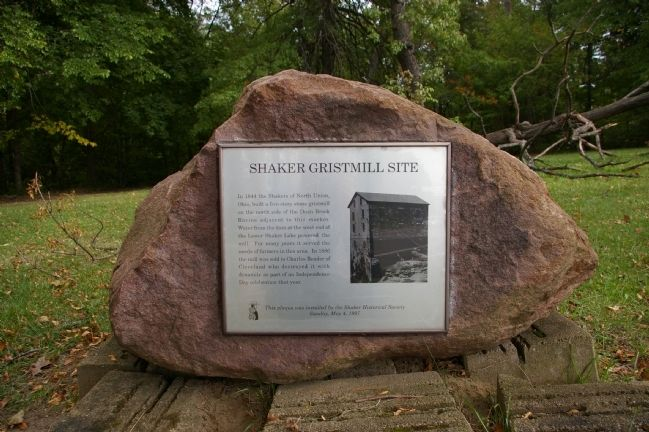 Shaker Gristmill Site Marker image. Click for full size.