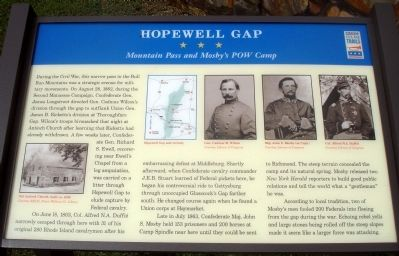 Hopewell Gap Marker image. Click for full size.