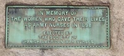 Spanish-American War Nurses Memorial Marker image. Click for full size.