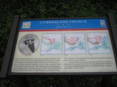 Cumberland Church Marker on Lee's Retreat image. Click for full size.