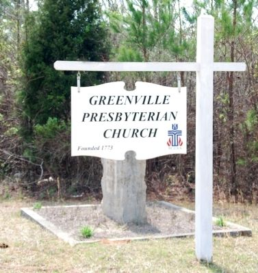 Greenville Presbyterian Church Sign image. Click for full size.