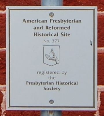 American Presbyterian and<br>Reformed Historical Site image. Click for full size.