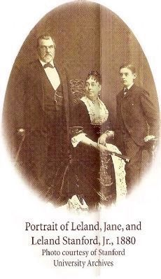 Portrait of Leland, Jane, and Leland, Jr. 1880 image. Click for full size.
