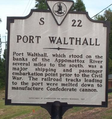 Port Walthall Marker image. Click for full size.
