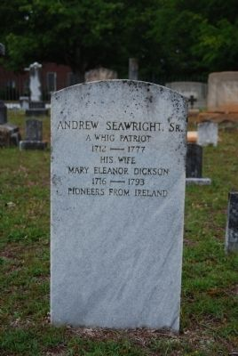 Andrew Seawright, Sr. Tombstone image. Click for full size.
