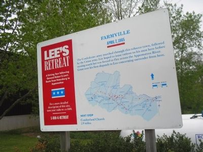 Farmville Marker on Lee's Retreat image. Click for full size.