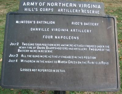McIntosh's Battalion - Rice's Battery Tablet image. Click for full size.