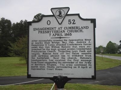 Engagement at Cumberland Presbyterian Church Marker image. Click for full size.