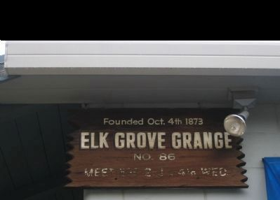 El Grove Grange No. 86 Building image. Click for full size.