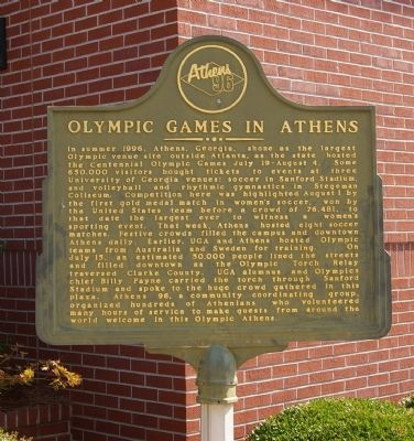 Olympic Games in Athens Marker image. Click for full size.