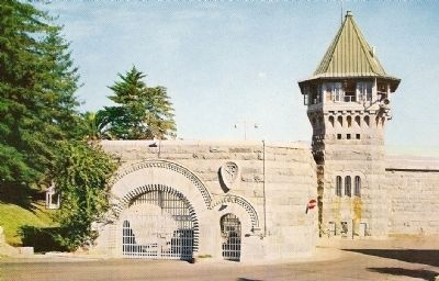 Vintage Postcard - California State Prison at Folsom image. Click for full size.