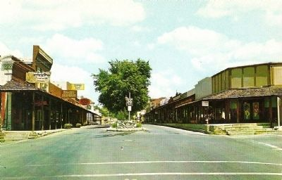 Vintage Postcard - Sutter Street, Gas Lit Mall, Folsom, California image. Click for full size.