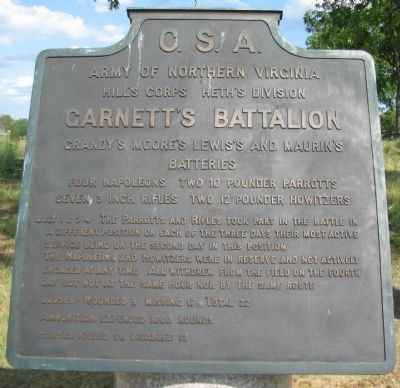 Garnett's Battalion Tablet image. Click for full size.