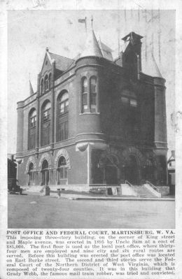 Post Office and Federal Court, Martinsburg, W. Va. image. Click for full size.