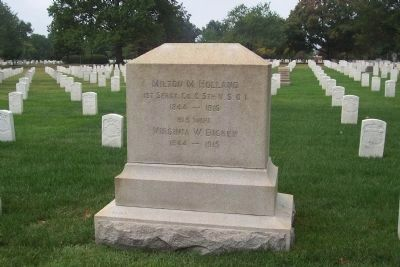 Grave of Sgt. Maj. and Mrs. Milton M. Holland, ANC Section 23 image. Click for full size.